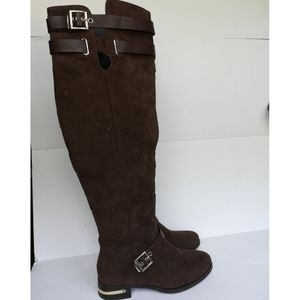 Shoe Dazzle Charisma Over The Knee Flat Boots